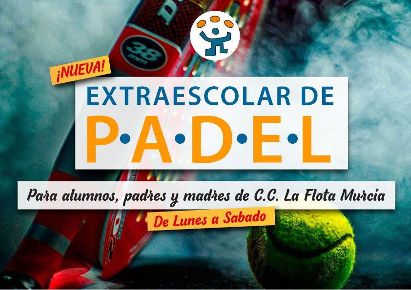 Nueva actividad extraescolar desde Febrero: Padel para niños y adultos