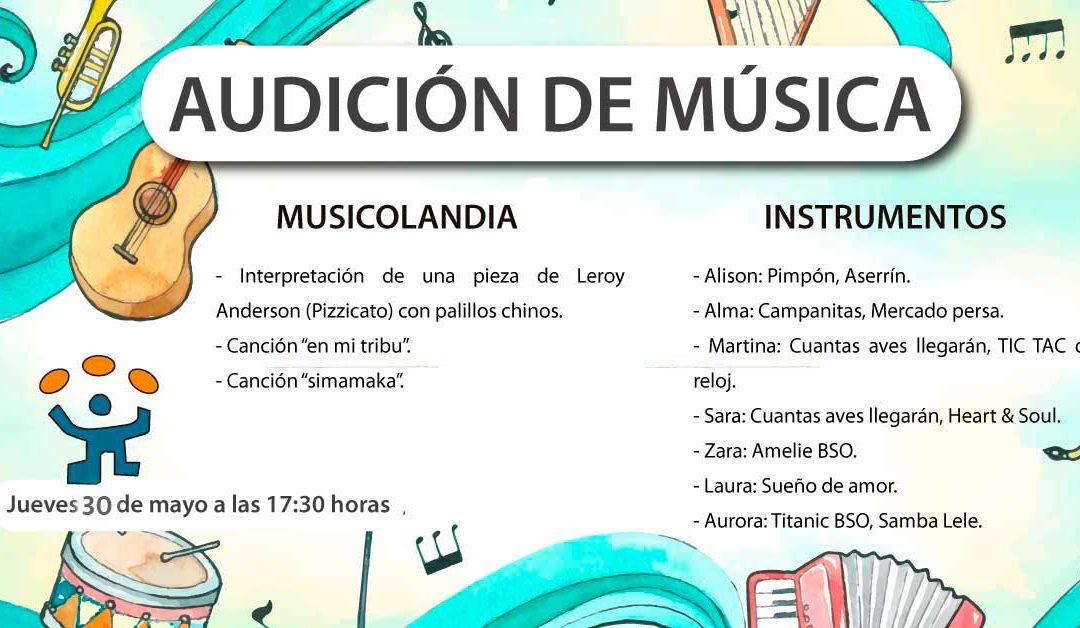 ¡Audiciones de música!