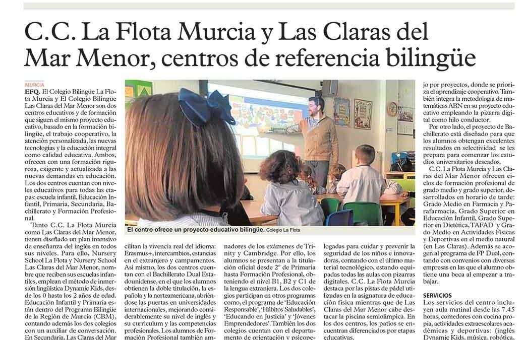 C.C. La Flota Murcia, colegio de referencia bilingüe